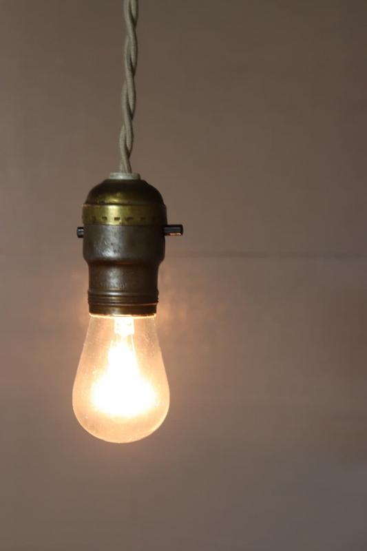 1930年代 ヴィンテージエジソンソケットランプ