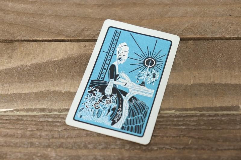 1930年代 ヴィンテージレザーケース入りカードゲーム