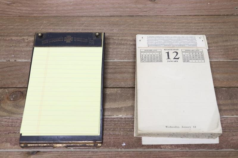 1910年代 ヴィンテージ文房具デスクトップカレンダー&メモパッド