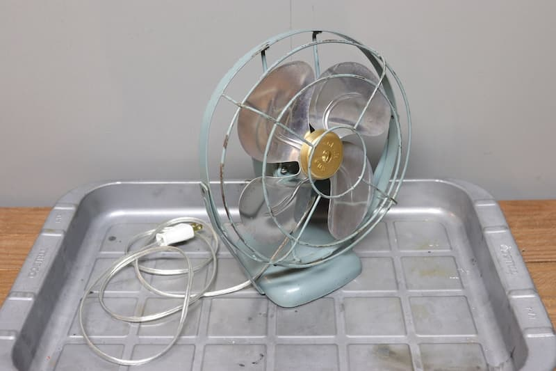 1970年代 扇風機メンテナンス