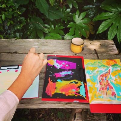 シタール茶屋+アートセラピー