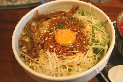 伊駄天 あつ玉味噌つけ麺 麺アップ