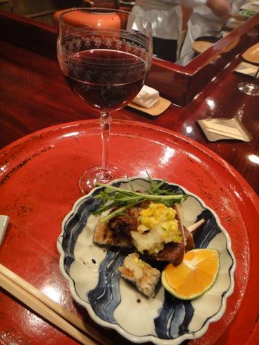 草喰なかひがし 鰻&赤ワイン