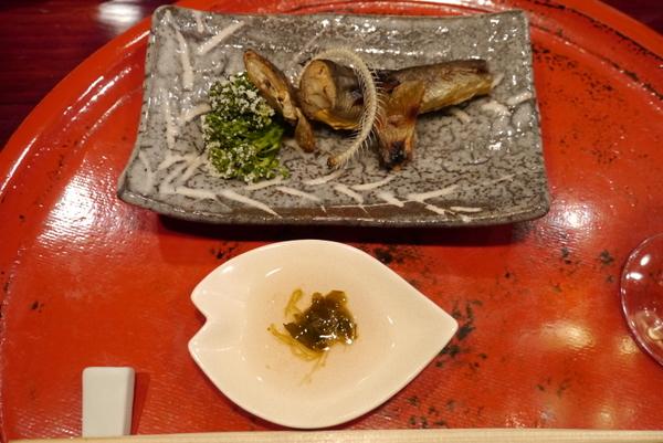 草喰 なかひがし 岩魚の焼き物
