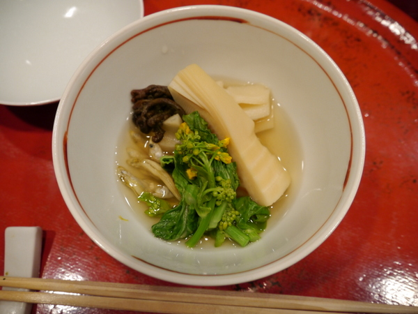 草喰 なかひがし 筍と畑菜の炊き合わせ