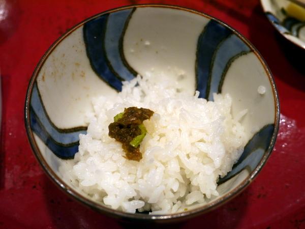 草喰 なかひがし 白ご飯に蕗味噌