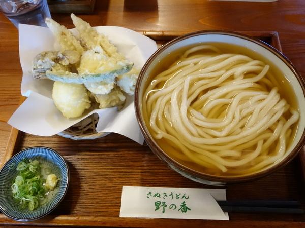 野の香 天ぷら(ちく玉天)とうどんのセット