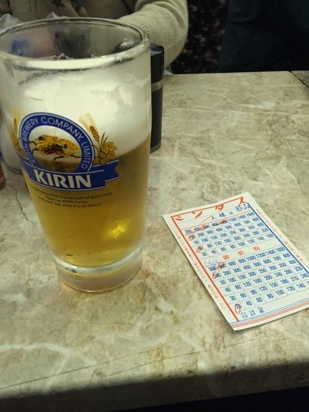 京極スタンド 生ビール