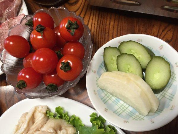 若竹 トマト&お新香