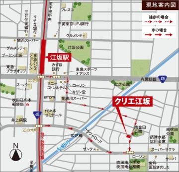XREA江坂地図