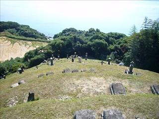 浜脇墓地清掃