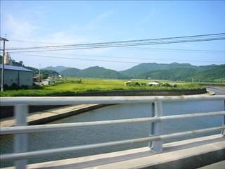 道路から見た久賀の干拓