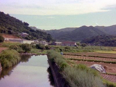 昭和53年・市小木の橋から見た久賀