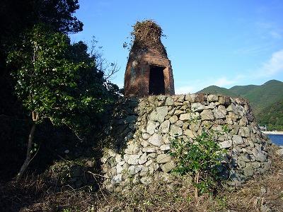 石灰づくりの窯跡