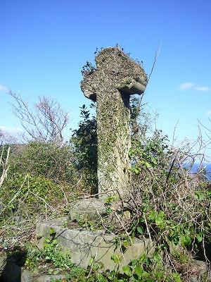 2009年細石流墓地の大十字架