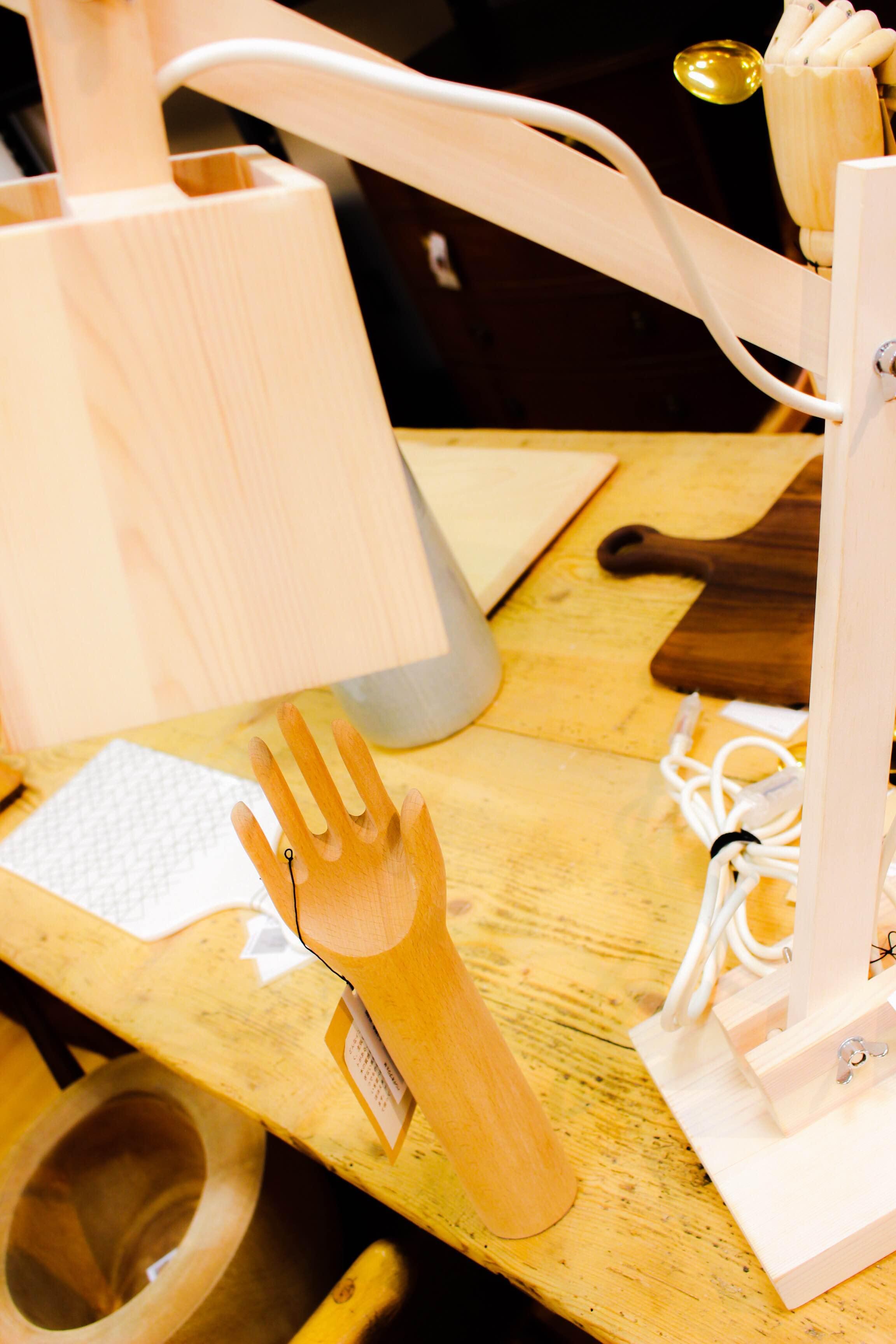 ハンドオブジェ mUUTO WOOD LAMP