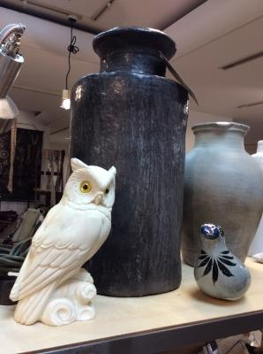 フクロウ 鳥 置き物 花器