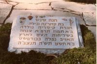 ハナ・セネシュの墓