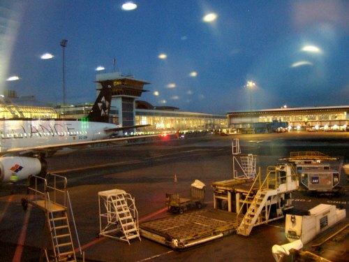 デンマークコペンハーゲン国際空港発(CPH)スペインマドリードバラハス国際空港行き(MAD)(マドリッドバラバス国際空港)SpanairスパンエアJK026便エアバスAirbus A320-232(EC-IOH)STAR ALLIANCE塗装スターアライアンスカラー