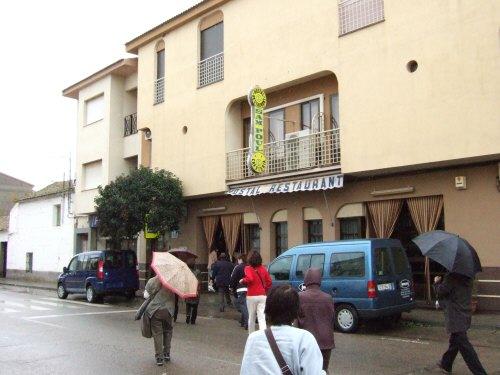 世界遺産トレド(世界自然遺産)Toledoトレドからラマンチャ地方・コンスエグラのレストランでランチタイム昼食昼飯昼ご飯