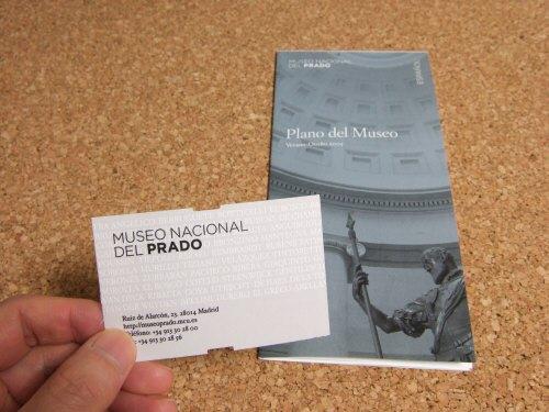 Espana España(エスパーニャ)SPAIN MADRIDマドリッドマドリードプラド美術館Museo del Prado入場券とパンフレットフロアガイド美術館内案内図