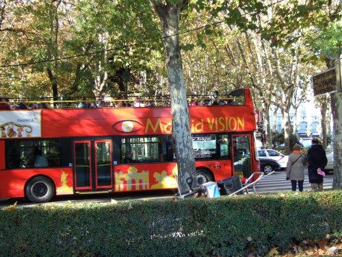 Espana España(エスパーニャ)SPAIN MADRIDマドリッドマドリードプラド美術館周辺Madrid VISIONオープントップバス2階建てバスマドリードの風景景色