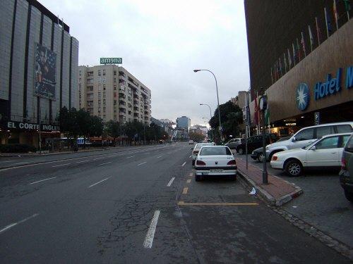España(エスパーニャ)SPAINフラメンコの本場セビリヤへSEVILLAセビリアセビージャセビーリャホテルメリア・レブレロス(HOTEL Melia Lebreros)ホテル周辺の景色