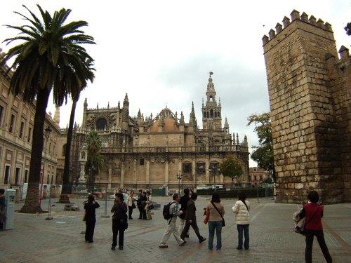 España(エスパーニャ)SPAINフラメンコの本場セビリヤへSEVILLAセビリアセビージャセビーリャ大聖堂カテドラルヒラルダの塔尖塔鐘楼世界遺産世界文化遺産