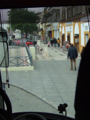 España(エスパーニャ)SPAINフラメンコの本場セビリヤへSEVILLAセビリアセビージャセビーリャクリストバル・コロン通りPo.de Cristobal Colonランチはタブラオエル・パティオ・セビリャーノEL PATIO SEVILLANO店の前店の外観写真