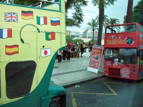 Sevilla Tourセビリアツアーバス2階建て観光バス2階建てバスセビーリャツアーセビージャツアーバス