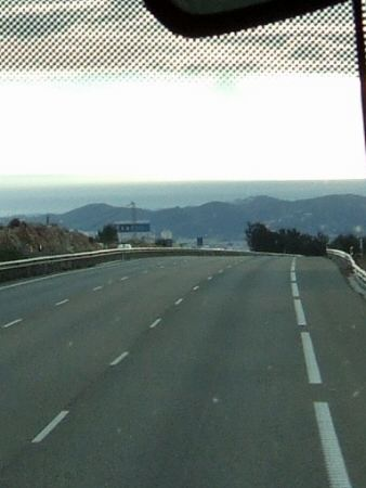 EspañaエスパーニャSPAINセビリヤSEVILLAセビリアセビージャセビーリャからコスタ・デル・ソル、ミハスへCOSTA DEL SOL Mijas高速道路E15線地中海