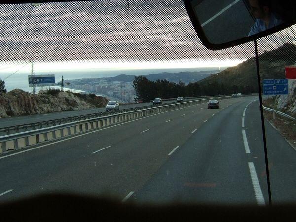 EspañaエスパーニャSPAINセビリヤSEVILLAセビリアセビージャセビーリャからコスタ・デル・ソル、ミハスへCOSTA DEL SOL Mijas高速E15線地中海