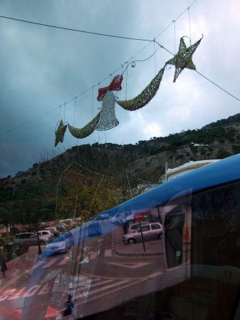 エスパーニャSPAINセビリヤSEVILLAセビリアセビージャセビーリャからコスタ・デル・ソル、ミハスへCOSTA DEL SOL Mijasクリスマスイルミネーション