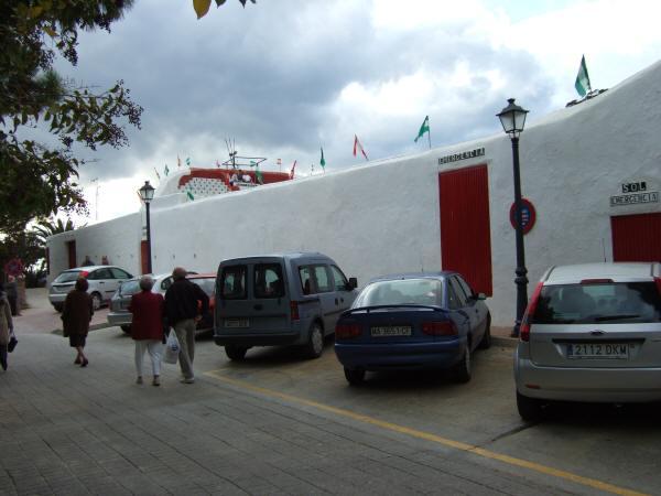 エスパーニャSPAINセビリヤSEVILLAセビリアセビージャセビーリャからコスタ・デル・ソル、ミハスへCOSTA DEL SOL Mijasミハス闘牛場PLAZA DE TOROS MIJAS