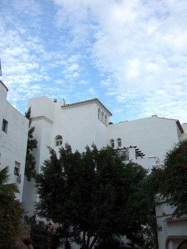 エスパーニャSPAINセビリヤSEVILLAセビリアセビージャセビーリャからコスタ・デル・ソル、ミハスへCOSTA DEL SOL Mijas青空に白い壁