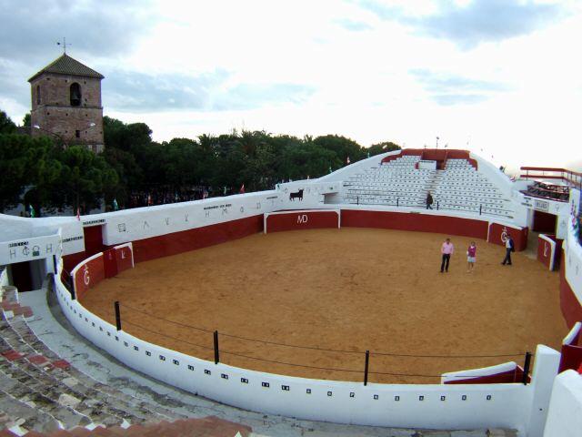 エスパーニャSPAINセビリヤSEVILLAセビリアセビージャセビーリャからコスタ・デル・ソル、ミハスへCOSTA DEL SOL Mijasミハス闘牛場PLAZA DE TOROS MIJAS変形闘牛場四角形闘牛場