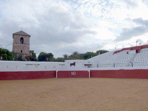 エスパーニャSPAINセビリヤSEVILLAセビリアセビージャセビーリャからコスタ・デル・ソル、ミハスへCOSTA DEL SOL Mijasミハス闘牛場PLAZA DE TOROS MIJAS小さい闘牛場四角い闘牛場