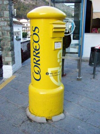 エスパーニャSPAINセビリヤSEVILLAセビリアセビージャセビーリャからコスタ・デル・ソル、ミハスへCOSTA DEL SOL Mijasミハス黄色い郵便ポスト丸い郵便ポスト丸ポスト