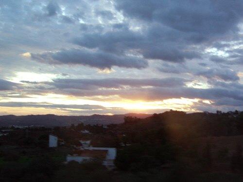 エスパーニャSPAINセビリヤSEVILLAセビリアセビージャセビーリャからコスタ・デル・ソル、ミハスへCOSTA DEL SOL Mijasミハスで見た夕日夕焼けミハスの夕景