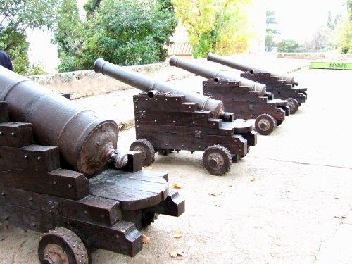 エスパーニャSPAINアンダルシア地方グラナダGRANADA世界遺産世界文化遺産アルハンブラ宮殿Palacio de la Alhambra大砲