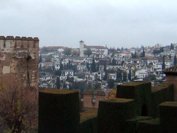 エスパーニャSPAINアンダルシア地方グラナダGRANADA世界遺産世界文化遺産アルハンブラ宮殿Palacio de la Alhambraアルバイシン地区Albaicinアルバイシンの町並み