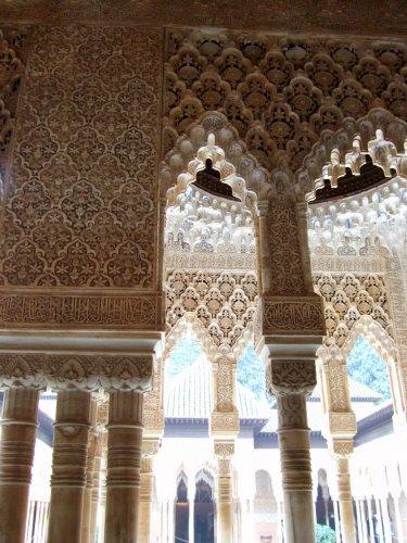 エスパーニャSPAINアンダルシア地方グラナダGRANADA世界遺産世界文化遺産アルハンブラ宮殿Palacio de la Alhambra王宮ライオンの中庭Patio de los Leones