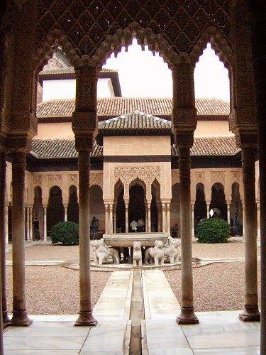 エスパーニャSPAINアンダルシア地方グラナダGRANADA世界遺産世界文化遺産アルハンブラ宮殿Palacio de la Alhambra王宮ライオンの中庭ライオンの宮殿Patio de los Leones