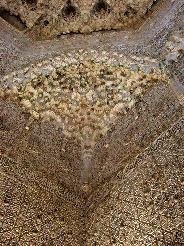 エスパーニャSPAINアンダルシア地方グラナダGRANADA世界遺産世界文化遺産アルハンブラ宮殿Palacio de la Alhambra王宮二姉妹の間Sala de las Dos Hermanas