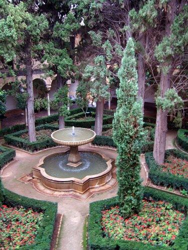 エスパーニャSPAINアンダルシア地方グラナダGRANADA世界遺産世界文化遺産アルハンブラ宮殿Palacio de la Alhambra王宮リンダラハの庭Jardin de Lindaraja