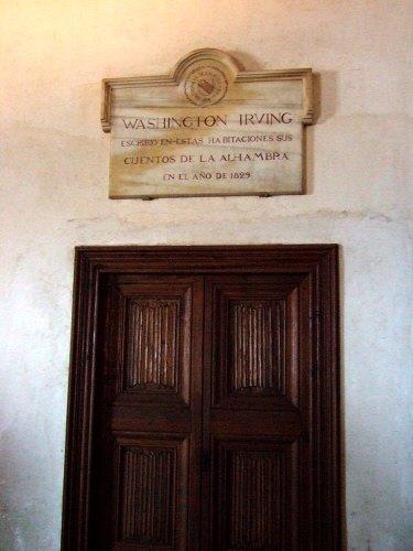 エスパーニャSPAINアンダルシア地方グラナダGRANADA世界遺産世界文化遺産アルハンブラ宮殿Palacio de la Alhambra王宮ワイントン・アービングの部屋