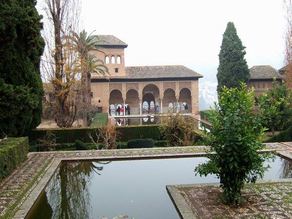 エスパーニャSPAINアンダルシア地方グラナダGRANADA世界遺産世界文化遺産アルハンブラ宮殿Palacio de la Alhambra王宮の庭