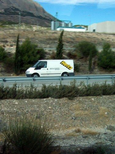 エスパーニャSPAINアンダルシア地方高速道路A92号線沿いに見えた風景景色