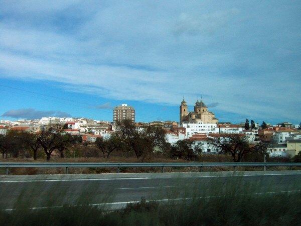 エスパーニャSPAINアンダルシア地方高速道路A92号線沿いに見えた風景景色Velez Rubioの街