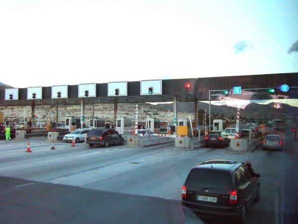 エスパーニャSPAINアンダルシア地方グラナダからバレンシア地方バレンシア高速道路E15号料金所